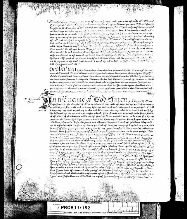 The Last Will & Testament of William Minterne Esquire of Thorpe - 1st June 1625 - Page 3